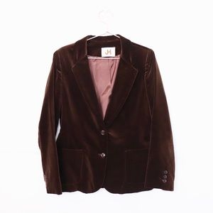 VNTG: Brown Velvet Blazer